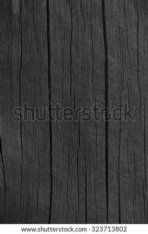 Wooden Plank Board Grey Black Wood Tar Paint Vertical Texture Old Aged Dark Cracked Timber Macro Closeup Pattern Blank Empty Rough Textured Copy Space Grunge Weathered Vintage Painted Background
