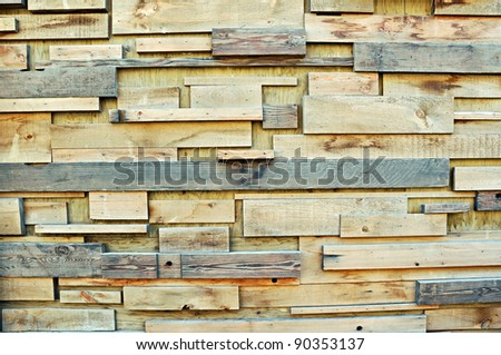 Wooden Plank Wall - stock photo