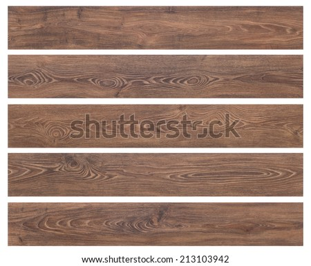 Wooden planks isolated on white background - stock photo