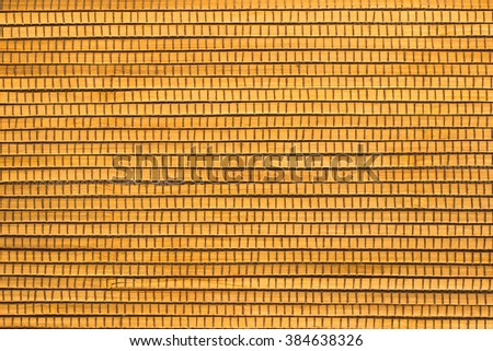 Wooden planks stitched with threads - stock photo