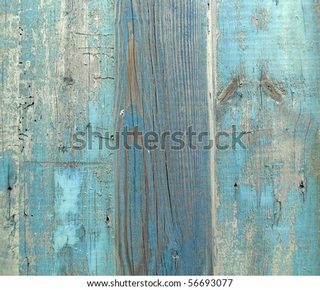 Wooden planks with paint traces - stock photo