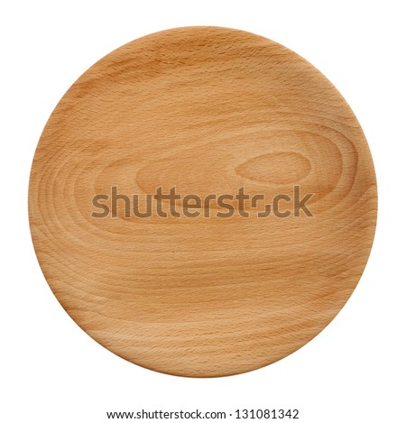 Wooden plate from above