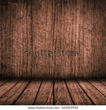 Wooden plate wall and floor interior background
