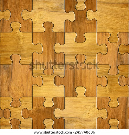 wooden puzzles - seamless background - decorative pattern - stock photo