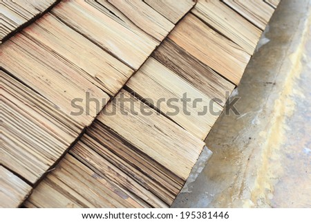 Wooden Roof shingle texture and background - stock photo