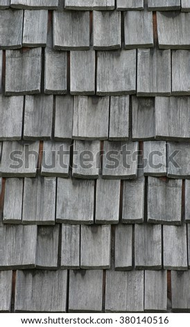 Wooden roof shingles