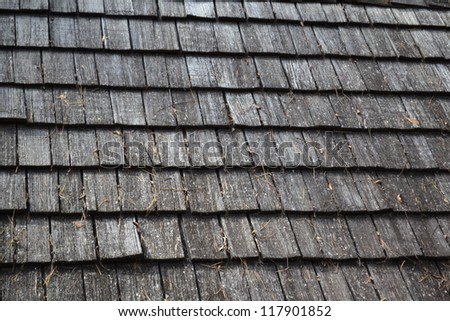 Wooden Roof Shingles on an Old House