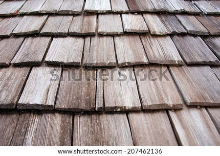 wooden roof shingles texture - stock photo