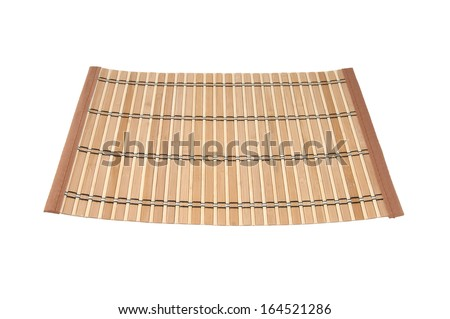 Wooden rug - stock photo