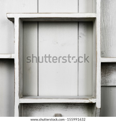 wooden shelf - stock photo