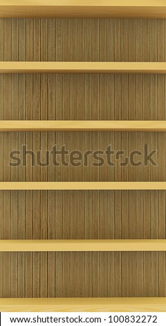 Wooden shelf for background