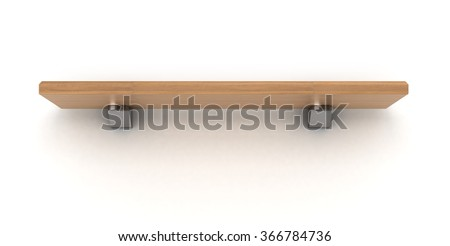 wooden shelve isolated on white backgrownd