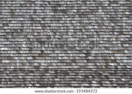 Wooden shingle background  - stock photo