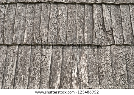 wooden shingle roof background - stock photo