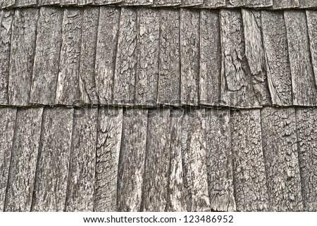 wooden shingle roof background - stock photo