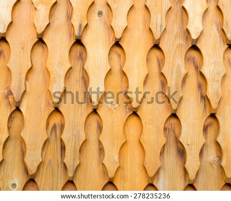Wooden shingle surface for background or texture. - stock photo