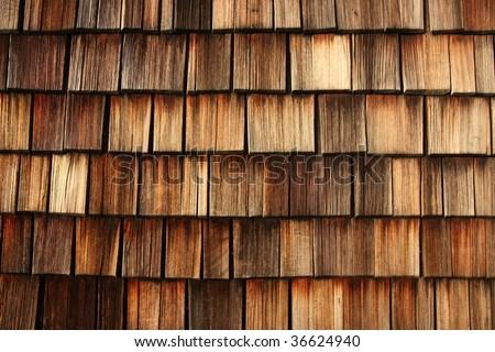wooden shingles - stock photo