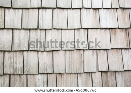 Wooden shingles rustic background wall