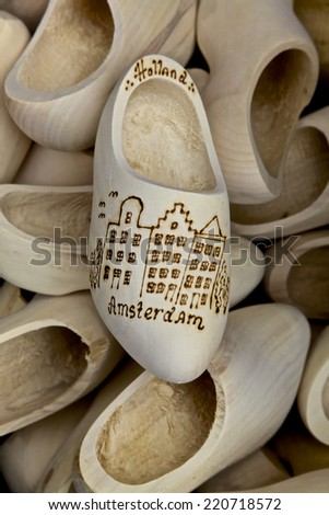 Wooden Shoes in Amsterdam, Netherlands