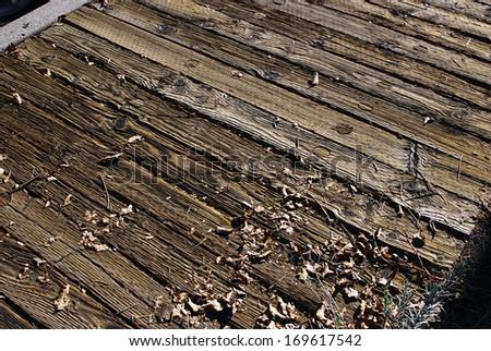 Wooden sidewalk, Virginia city, NV - stock photo