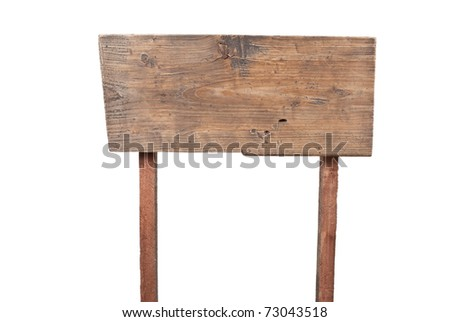 Wooden sign - stock photo