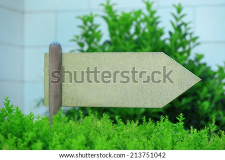 Wooden sign at park
