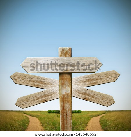 wooden sign with landscape