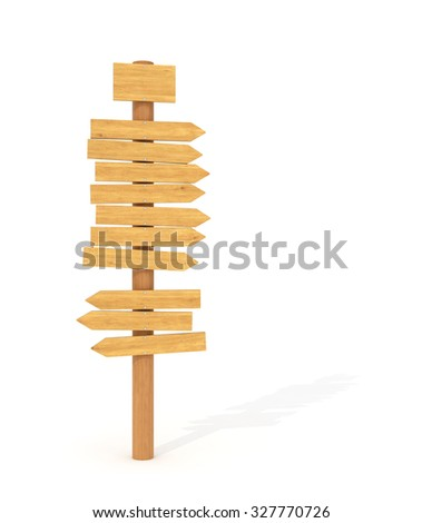 Wooden signs, pointer - stock photo