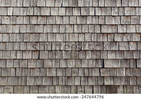 wooden single tiles - stock photo
