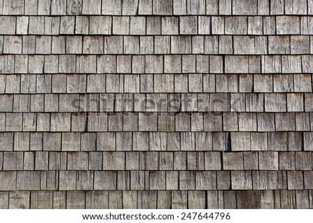 wooden single tiles - stock photo