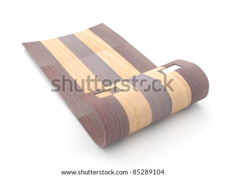 Wooden sled on isolated background (3D model) - stock photo