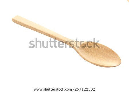 wooden spoon isolated over white. - stock photo
