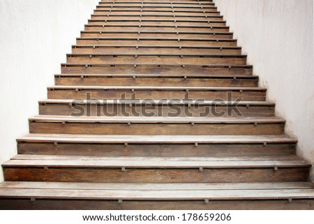 wooden stairs, way to the sea