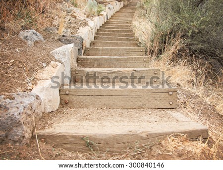 how to make concrete steps on a hill