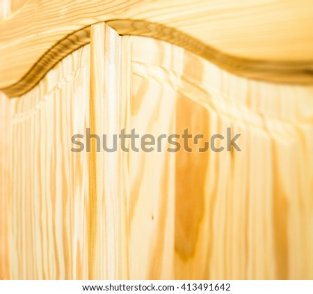 Wooden surface. Frame and panel construction. Close up. - stock photo