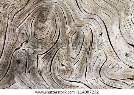 Wooden Swirls Organic Background Texture - stock photo