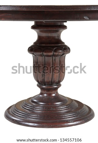 Wooden table base - stock photo