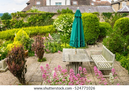 Inspiring New Garden Parasol Stock Photos Royaltyfree Images  Vectors  With Handsome Wooden Table With A Bench And A Parasol On The Backyard Of A Traditional  British House With Awesome The Curious Garden Also Sch Garden Machinery In Addition Waterlogged Garden Clay Soil And Madison Square Garden Lease As Well As Garden Centre Stamford Additionally Hatton Garden Opening Hours From Shutterstockcom With   Handsome New Garden Parasol Stock Photos Royaltyfree Images  Vectors  With Awesome Wooden Table With A Bench And A Parasol On The Backyard Of A Traditional  British House And Inspiring The Curious Garden Also Sch Garden Machinery In Addition Waterlogged Garden Clay Soil From Shutterstockcom