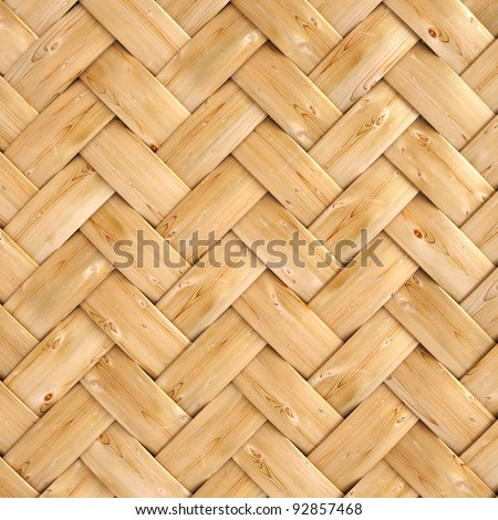 wooden texture of rattan with natural patterns - stock photo
