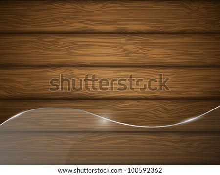 Wooden texture with glass. Illustration. - stock photo
