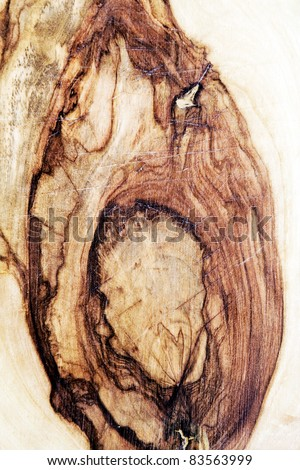 Wooden texture with grains and gnarls. - stock photo