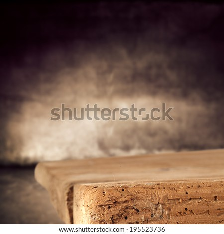 wooden top and wall  - stock photo