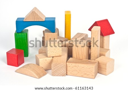 wooden toy - stock photo