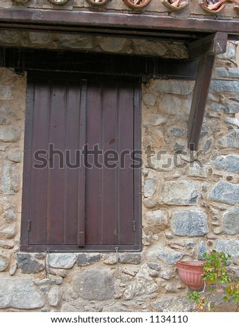Wooden traditional Window - stock photo