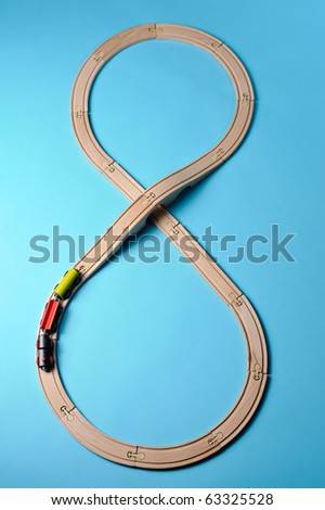 Wooden train toy - stock photo