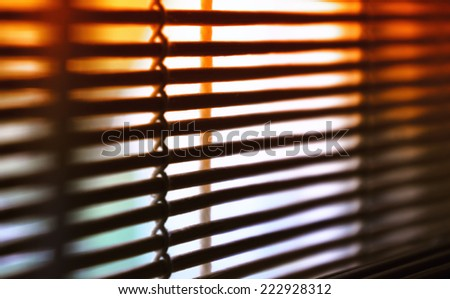 Wooden venetian blind - stock photo