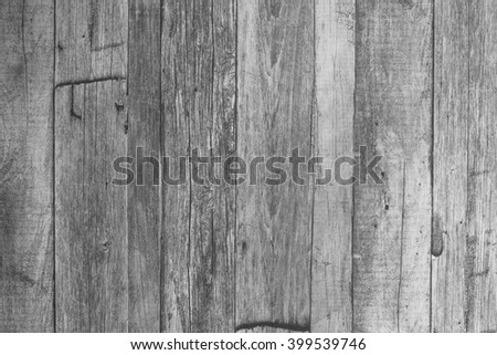 Wooden wall black and white - stock photo