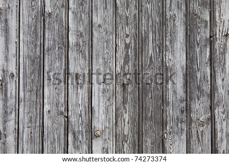 wooden wall (grey, background) - stock photo