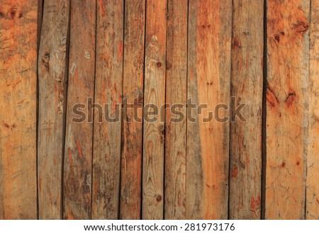 Wooden wall panels.