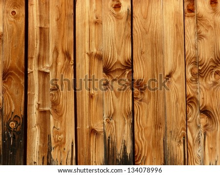 Wooden wall wooden panel - stock photo